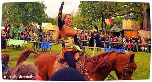 Bad Bentheim Frau auf Pferd beim Turnier