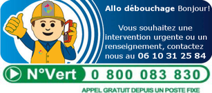 Debouchage canalisation 33 urgence 06 10 31 25 84