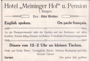 Anzeige von 1914- Archiv W.Malek