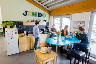 A kitchen space in Jimdo's office