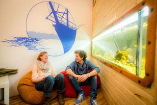 The Aquarium Room in Jimdo's Hamburg headquarters