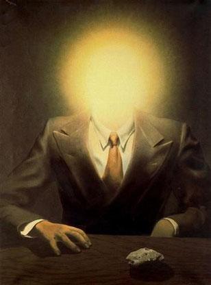 ルネ・マグリット「エドワード・ジェイムズの肖像」1937年