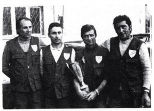 1975 Trofeo d'Eccellenza 1^ Societa' classificata squadra A : Casadio Luciano, Tinarelli Renzo, Bassi Dino, Morisi Luciano.