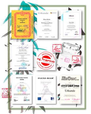 Ausbildungen und Zertifikate