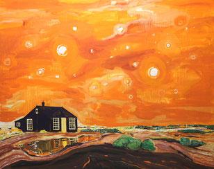 Keplers Haus, 2013, Öl auf Leinwand,190 x 240 cm