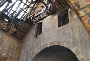 église de Saint Christophe - après l'incendie