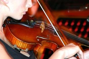 Geige, Violine, Aufnahmeprüfung, Programm, Anforderungen