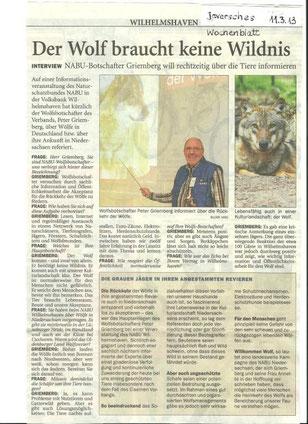 Interview mit dem Wolfsbotschafter, Peter Griemberg