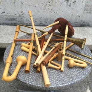 Nachgebaute Musikinstrumente aus der Hofkapelle Maximilians I.