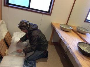 手洗い台 木製