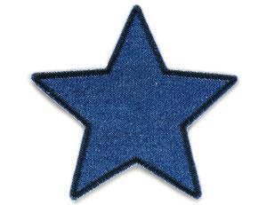 Bild: Stern Jeans Aufnäher zum aufbügeln, als schlichter Flicken zum aufbügeln für die Jeanshose