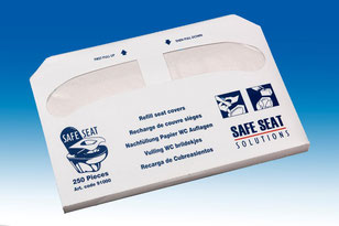 Refill 250 seat covers for half fold dispensers