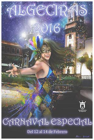 Cartel del Carnaval de Algeciras 2016