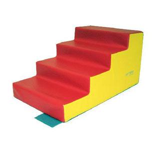Escalier 4 marches Sarneige maternelle pour enfants à acheter pas cher. Matériel de motricité Sarneige escalier 4 marches maternelle au meilleur prix.