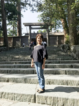 伊勢神宮へお詣りにいきました