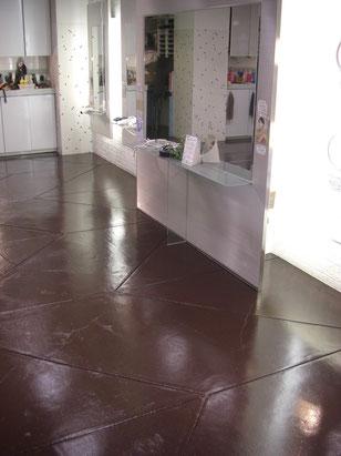 美容室 店舗床塗装 施工完了後