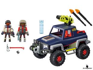 Im Paket Playmobil 9059 ist enthalten ein Eispiraten-Truck mit einer grossen schwenkbaren Riesenkanone.
