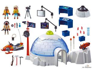 Im Paket Playmobil 9055 sind über vierzieg Teile enthalten.