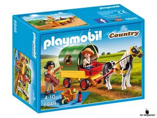 """Bei der Bestellung im Onlineshop der-Wegweiser erhalten Sie das Playmobil Paket 6948 """"Ausflug mit Pony""""."""