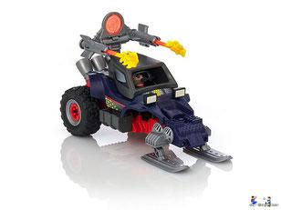 Besonderheiten im Playmobil Paket 9058 ist eine Mit beweglicher Doppelkanone und Rückzugsmotor enthalten.