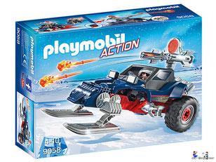"""Bei der Bestellung im Onlineshop der-Wegweiser erhalten Sie das Playmobil Paket 9058 Polar Ranger """"Eispiraten-Racer""""."""