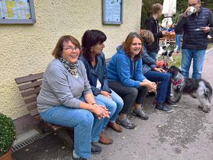 meine drei Küchenhelferinnen beim großen Schapendoes-Familientreffen 2016 bei den Hundefreunden Dachau