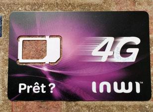 写真はモロッコのSIMカードです。4G