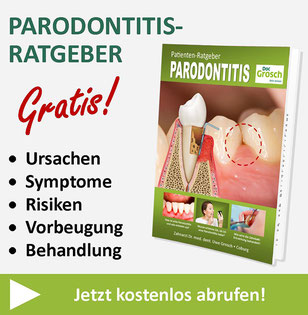 Kostenloser Parodontitis-Ratgeber von Zahnarzt Dr. Uwe Grosch in Coburg