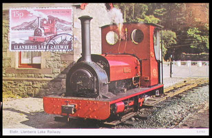 Llanberis Lake Railway: Postcard used on the 13th September 1979.