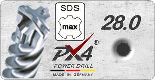 PX4 SDSmax 28mm power drill / hamerboor / klopboor / betonboor / hammer drill bit