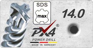 PX4 SDSmax 14mm power drill / hamerboor / klopboor / betonboor / hammer drill bit