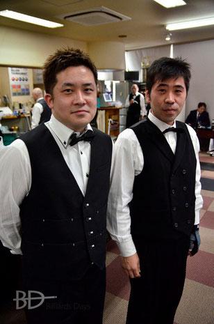 左:優勝した古屋敷亮一 右:重田宏之