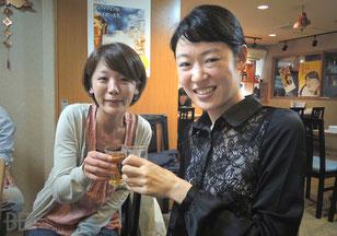 左:小林諒子選手 右:肥田緒里恵プロ