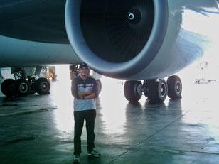 Besuch im Austrian Airlines Hangar .