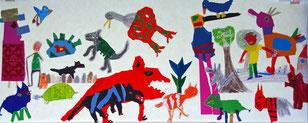 Collage zu Peter und der Wolf