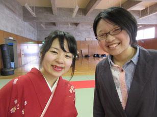 優里先輩と西谷ちゃん。先輩行かないで笑