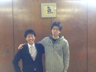 宇和川先輩と坂野先輩。同期の卒業!!