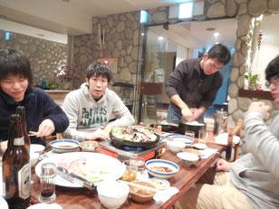 夕食のジンギスカン