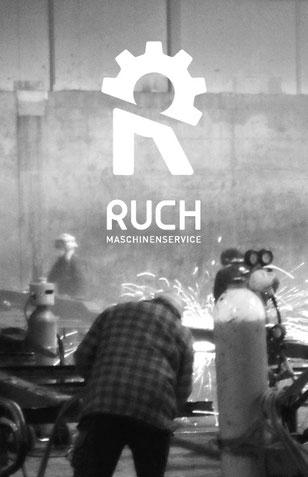 Ruch Landmaschinenservice: Entwicklung Logo design by Lockedesign, Burgdorf Bern: Ruch Maschinenservice