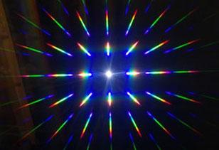 réseau de diffraction, spectre de la lumière
