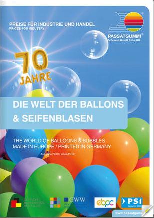 Ballons und Seifenblasen