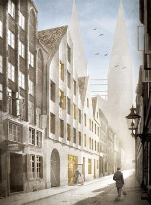 2015 wettbewerb gründungsviertel lübeck architekt robert schnell tobias herr hamburg