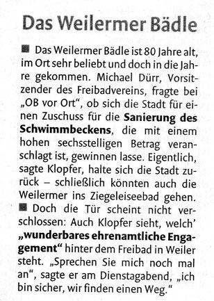 """Schorndorfer Nachrichten 28.09.2017 - """"OB vor Ort"""""""