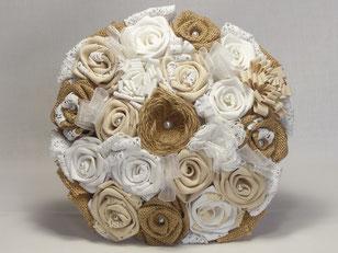 """Bouquet de fleurs """"Romantique"""" en tissu"""