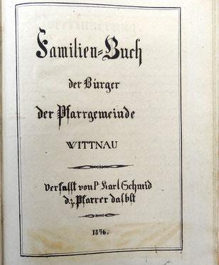 Die Abschrift (Pfarrarchiv Wittnau)