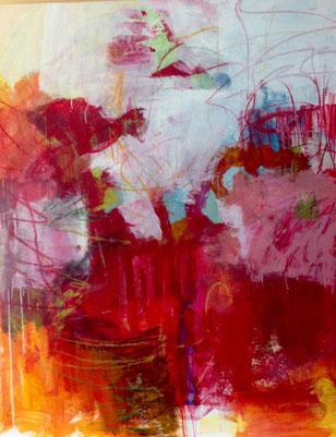 """""""Cassata"""", 2017, Mischtechnik auf Papier auf Alu-Dibond, 140 x110 cm"""