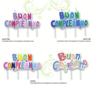 candele buon compleanno arcobaleno €3,50