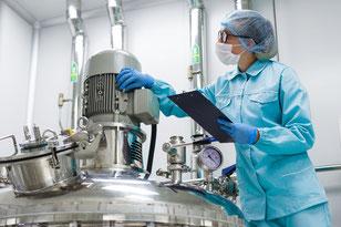 Wartung einer Industrieanlage im Highcare Bereich