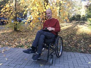 Herbst 2018 - Andy Müller am Niedersachsendamm in Bremen-Huckelriede