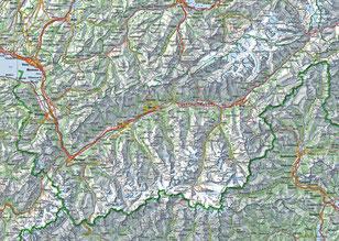 Karte Wallis als JPG (GeoAdmin CH, 1:500'000)
